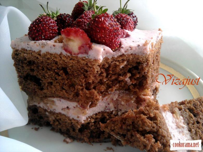 Торт «Грильяж в суниці»