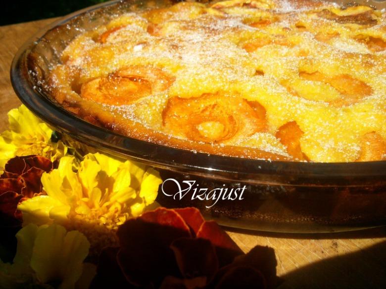 Клафуті з карамеллю та абрикосками
