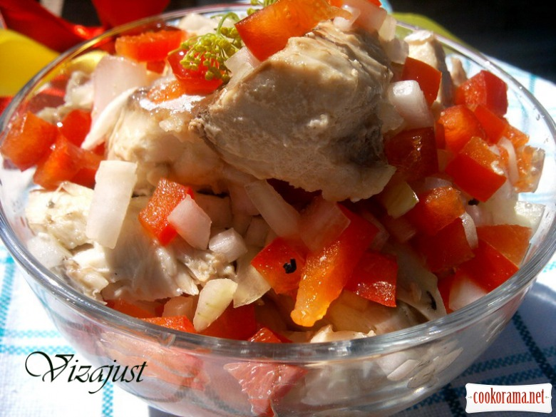 Закуска з макрелевого тунця в маринаді