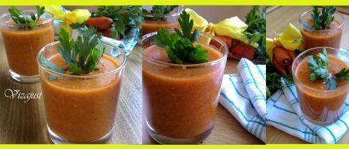 Суп-пюре з квасолі та моркви