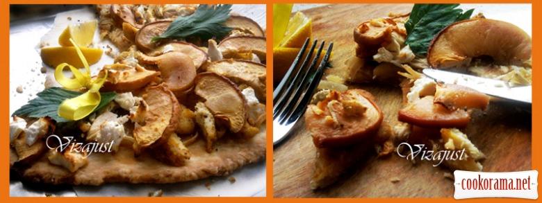 Піца з персиками