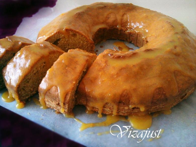 Гарбузовий кекс із гарбузовою помадкою