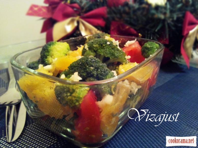 Салат з броколі та апельсину