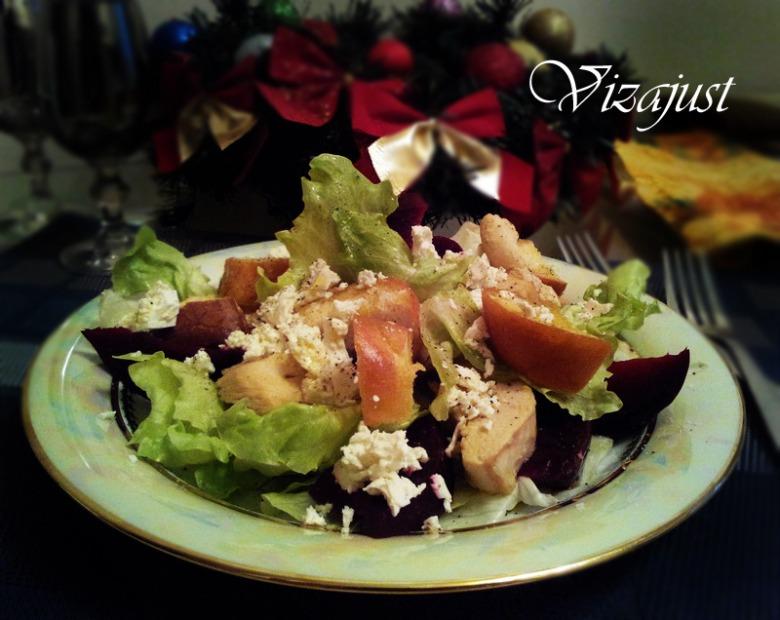 Теплий салат з гріночками