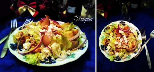 Салат з грушами, сиром та горіхами