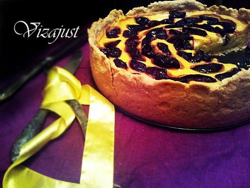 Cливовий пиріг з кремом