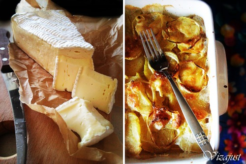 Запеченный картофель с сыром Бри