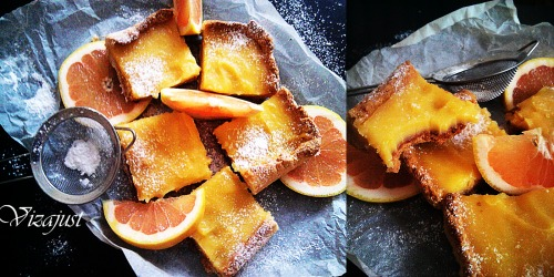 Пиріг з грейпфрутовим курдом