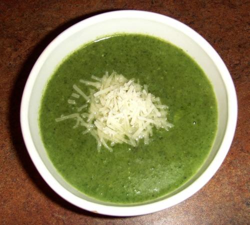 Суп-пюре зі шпинату...