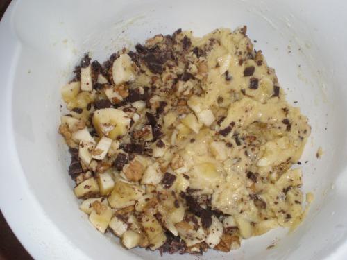 Бананово-горіхово-шоколадний кекс...