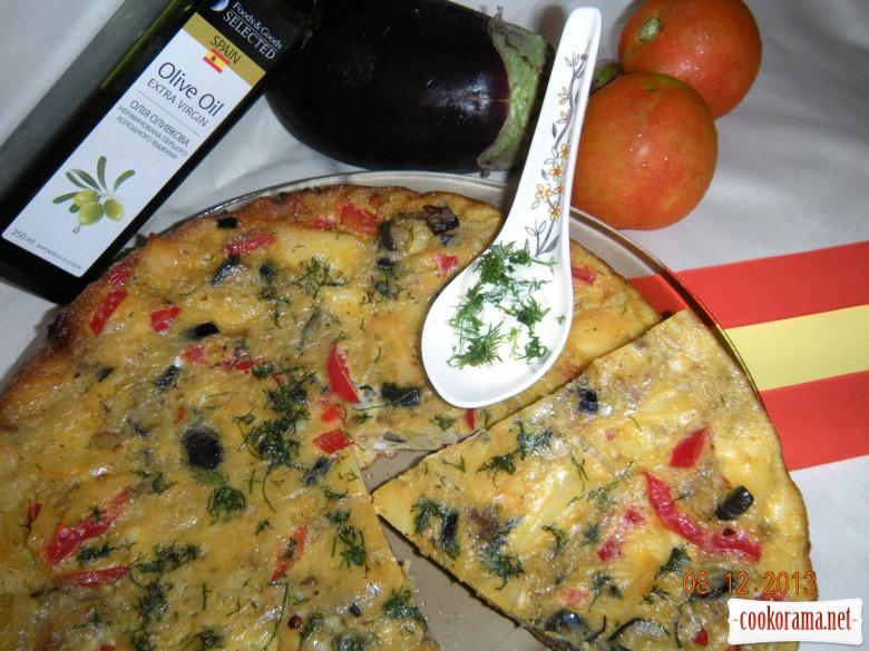 Тортилья з овочами та картоплею