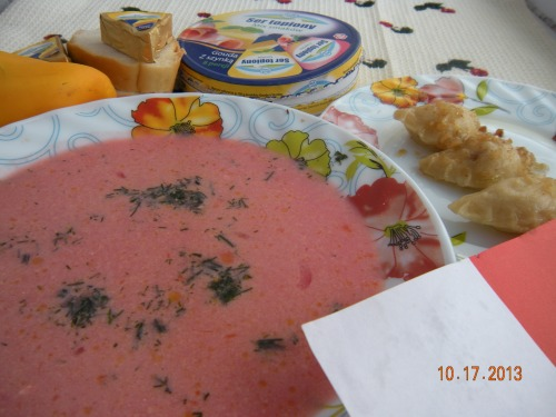 Польський борщ (червоний). Польські дні в сім'ї Удовенко (обід)