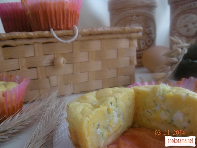 Солоні кекси з сиром