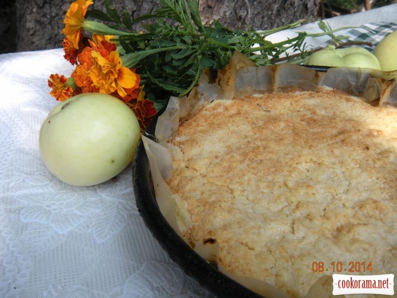 Насипний пиріг з яблуками