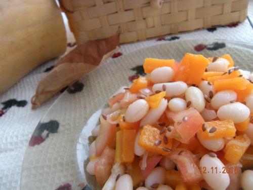 Салат з квасолею та гарбузом