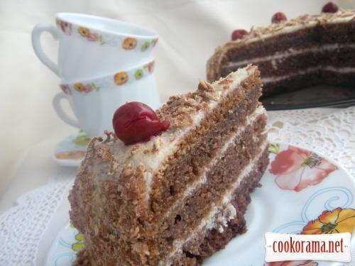 Манний торт з манним кремом