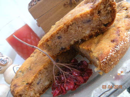 Manna cake with mushrooms and tomato juice (lean)