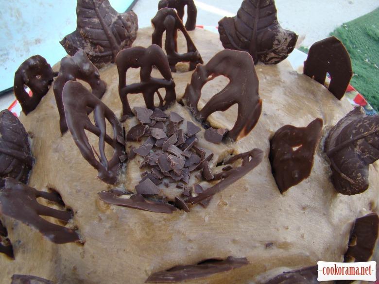 Торт зебра з кавовим кремом