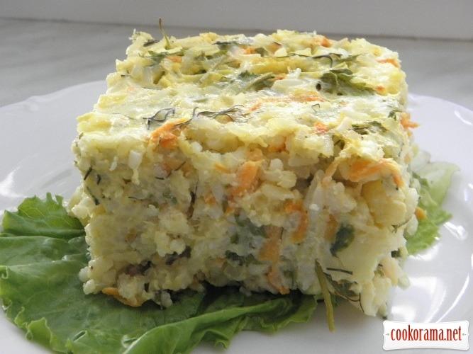 Запіканка з кабачків та рису