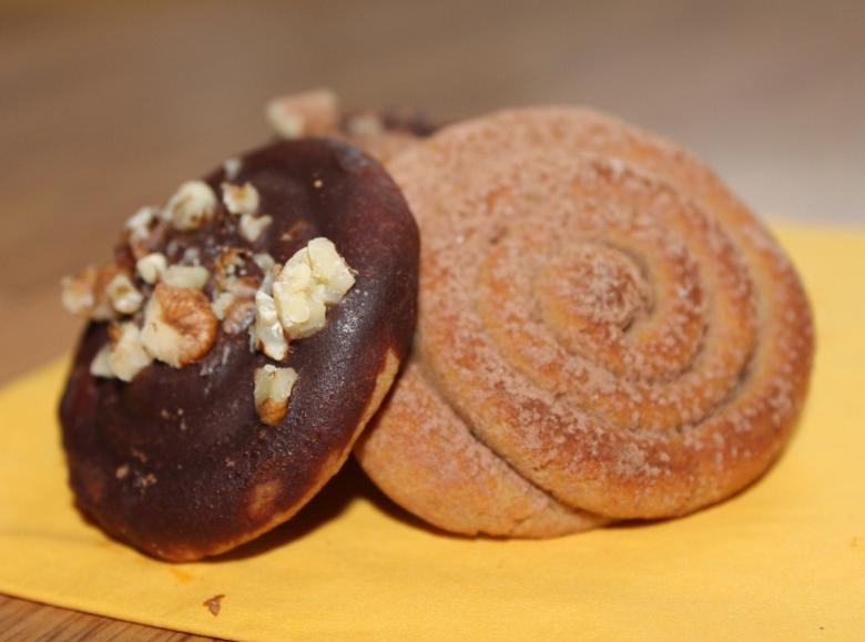 """Snails"" from buckwheat flour"