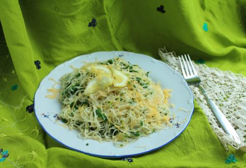 Паста з лимонами та зеленню