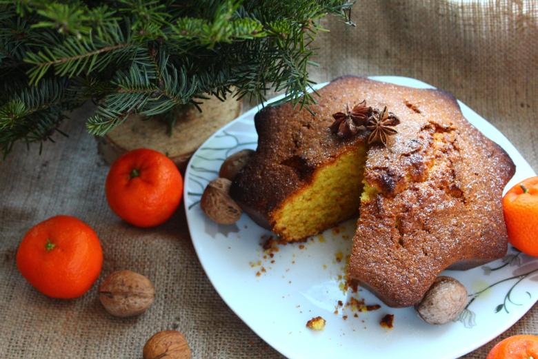 Новорічний ароматний кекс