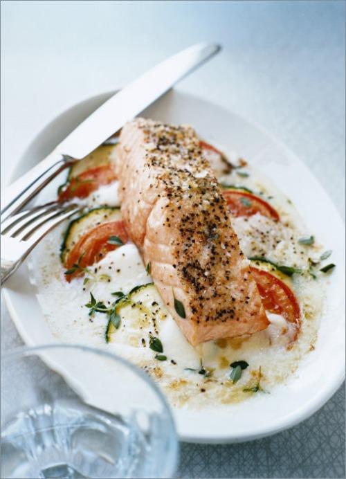 Капрезе с лососем