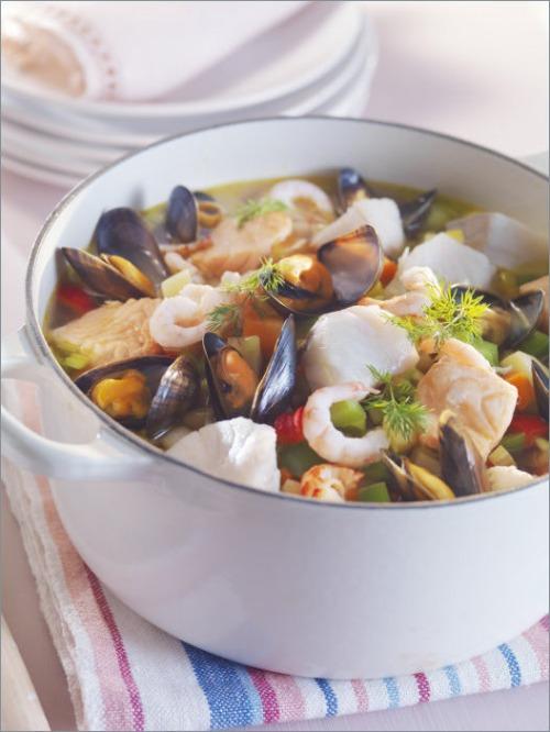 Суп из рыбы и морепродуктов
