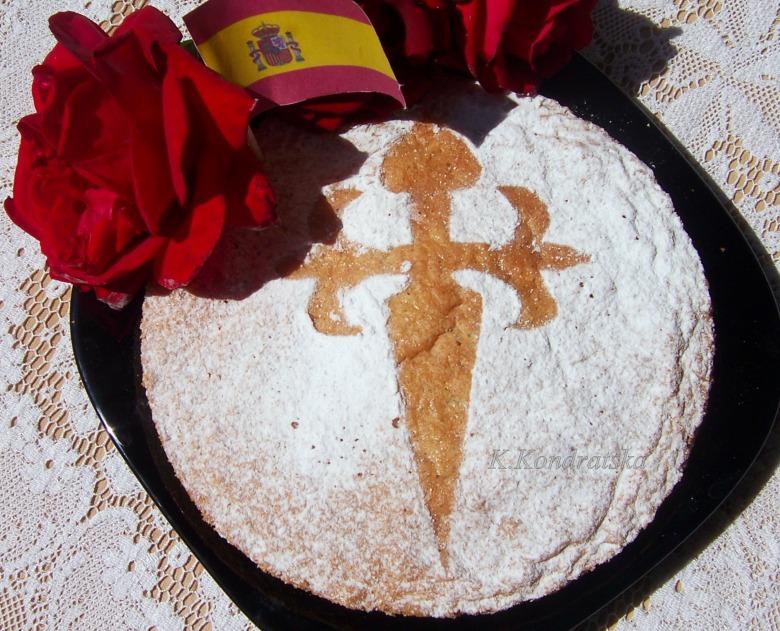 """Пирог """"Сантьяго"""" ‑ Tarta de Santiago (или пирог святого Иакова)"""