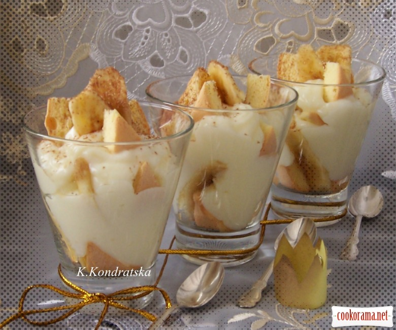 «Пятничный десерт» или десерт с бананом и заварным кремом