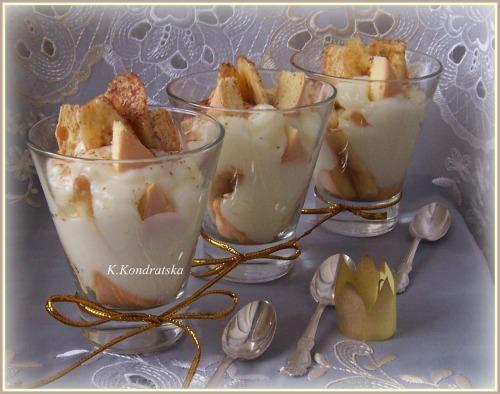 """""""Пятничный десерт"""" или десерт с бананом и заварным кремом"""