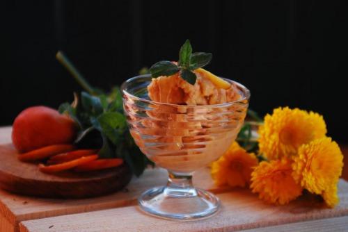 Бананово-персиковый сорбет