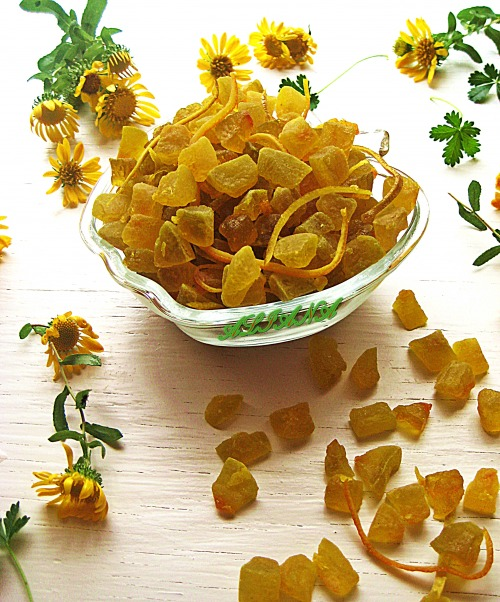 Candied watermelon peels (with taste of lemon)