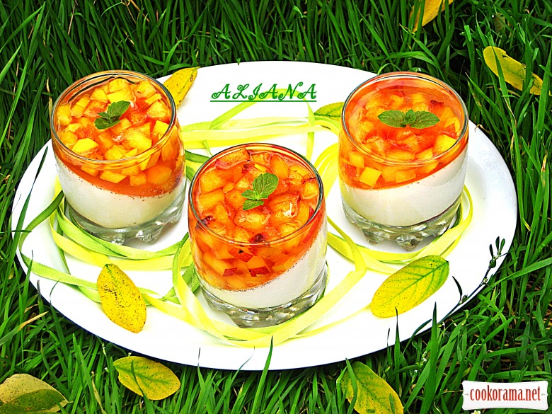 Сливочно-персиковое желе