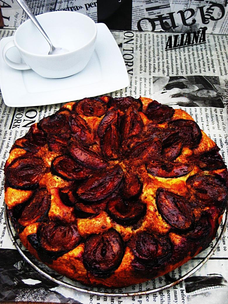 """Сливовый пирог из газеты """"New York Times"""""""