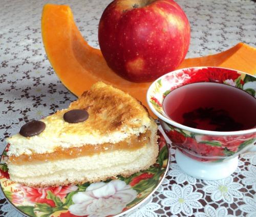 Гарбузово-яблучний сирник