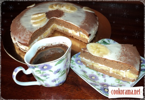 Chocolate-banana cake