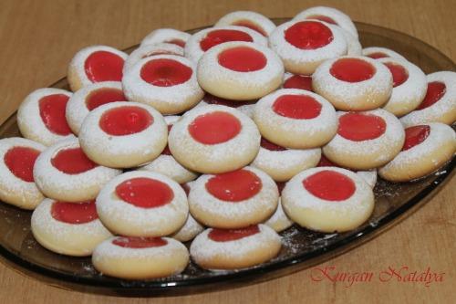 """Рождественское печенье """"Глазки ангела"""""""