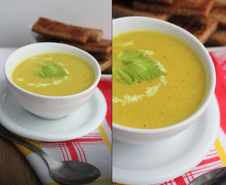 Крем-суп з кукурудзяною крупою