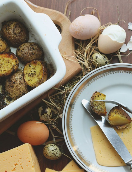 Печена картопля з майораном