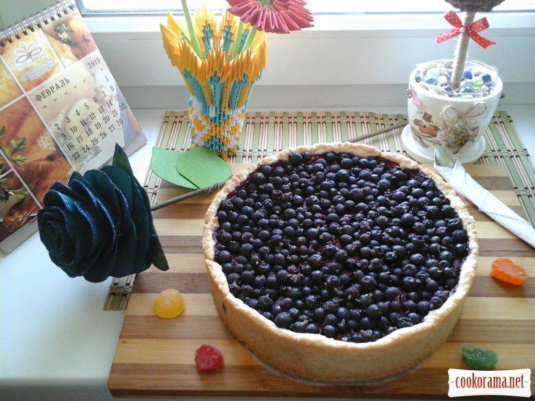 Творожний пиріг з смородиною