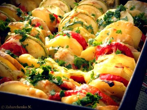 Веселка -  запечені овочі під сиром