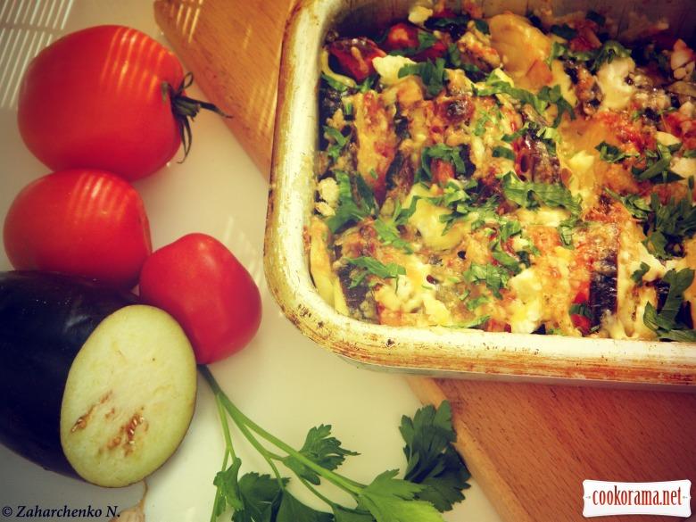 Овочева запіканка з баклажаном