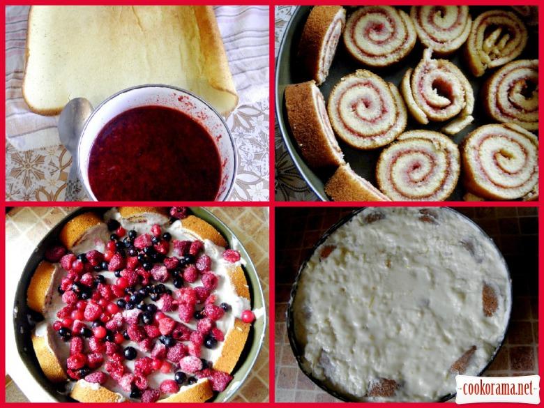 Желейний торт з ягодами