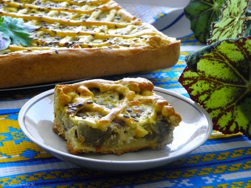 Пирог с баклажанами и сыром