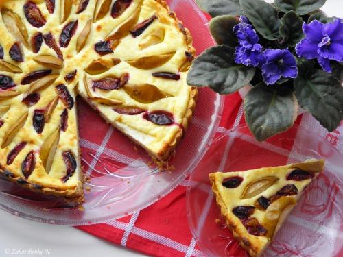 Сирно-фруктовий пиріг