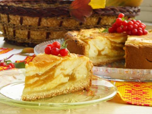 Пиріг з сирно-гарбузовою начинкою