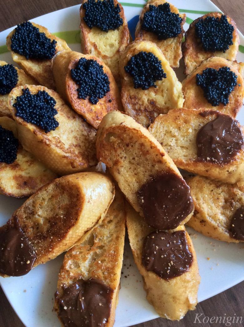 Грінки на сніданок (два варіанти)