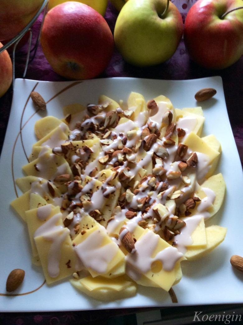 Яблука з сиром і мигдалем (Яблучний флеш-моб)