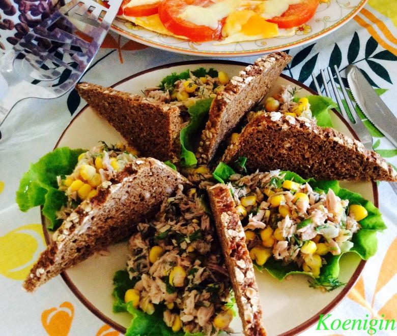 Закуска з тунця і свіжої кукурудзи